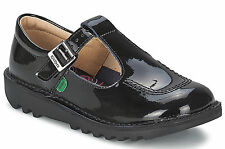 Kickers Women's Kick Lo Aztec Back To School Black Patent Shoes