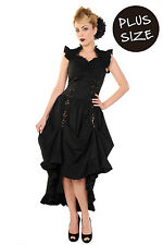 Banned Black Party Dress Long Gothic Victorian Steampunk Plus Over Size 18 20 22