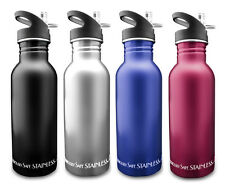 New Wave Enviro 600ml 20oz Stainless Steel Metal Reusable Bicycle Water Bottle