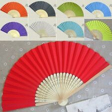 Chinese Style Folding Paper Fans Assorted Bamboo Hand Fans Wedding Party Favors