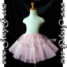 #U71 Petticoats Underskirts for Flower Girls/Formal/Pageant, Pink 0-16 Years