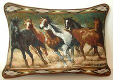 Western Horses - Wild Horses Running By Chris Cummings Tapestry Pillow New!
