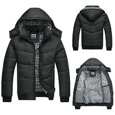 Cool New Fashion Mens Warm Hoodie Coat Parka Winter Outwear Down Jacket Black
