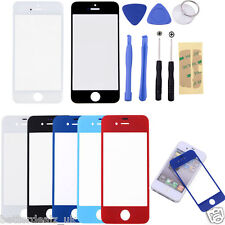 Front Outer Screen Glass Lens Replacement For Apple iPhone 4G 4S 5G 5C 5S+Tools