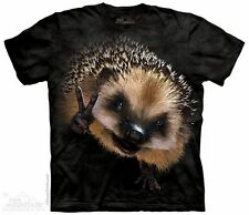 Peace Hedgehog T-Shirt From The Mountain-Adult S-5X & Child S-XL
