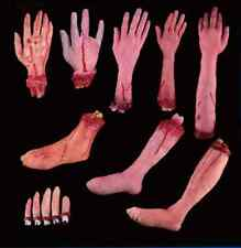 Fake Latex Scary Bloody Palm Fingers Legs Brains Halloween Props Decoration