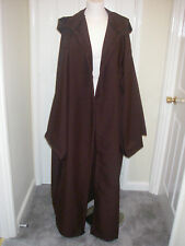 BROWN JEDI ROBE WITH SLEEVES  STAR WARS STEAMPUNK CLOAK GOWN BLACK GREY