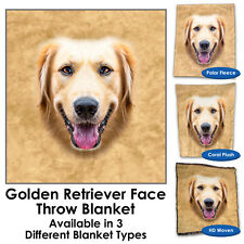 Golden Retriever Face Throw Blanket