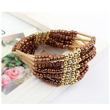 Fascinating Fashion Bohemian Bangle Beaded  Bracelet  Multilayer Womens Jewelry
