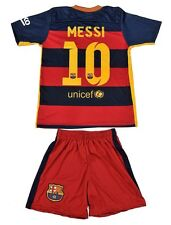 Barcelona #10 MESSI Home Kids Soccer Jersey & Shorts Youth Sizes - USA Seller