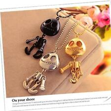 Stylish Skeleton Skull Sweater Chain Big Eyes UFO Aliens Pendant Necklace Choker