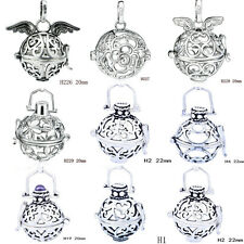 Sterling Silver Plated Mexican Bola Harmony Ball Angel Caller Only Cage 20-22mm