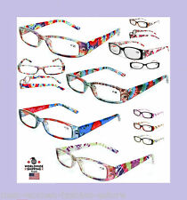 New Womens Ladies Burnout Tie Dye Style Readers Reading Glasses Fashion Designer