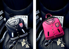 New Fashion Womens PU Backpack Leather School Bag Girls Satchel Shoulder Jacket