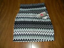 Lily Rose Juniors Size XS X Small S Small Black White Gray Zig Zag Skirt NWT