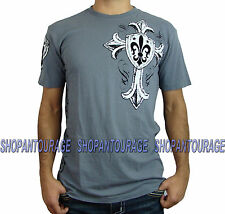 Xtreme Couture Worship X1405 Men`s New Charcoal T-shirt By AFFLICTION