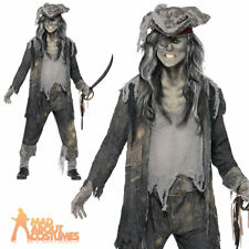 Zombie Mens Pirate Costume Ghost Ship Ghoul Halloween Fancy Dress Outfit New