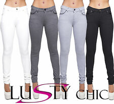 Womens Sexy Black Grey White Leggings Jegging Trousers Pants Size 6 8 10 12 14