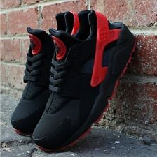 Men's & Womens Air Flight Huarache Red LOVE/HATE Rare Trainers Sizes UK-3-UK10
