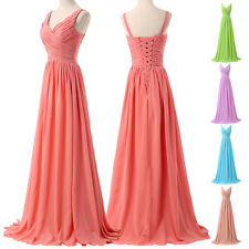 NWT Chiffon Long Formal Bridesmaid Evening Wedding Party Prom Ball Gowns Dresses