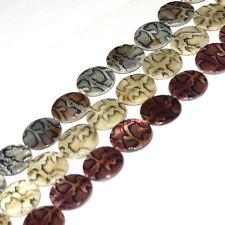 20MM COIN SHAPE MULTICOLOR PRINTED SHELL MOP GEMSTONE LOOSE BEADS STRAND 15""