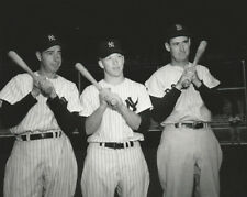 MLB Baseball Red Sox Williams and Yankees Mantle and Dimaggio Photo Print