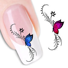Hot Butterfly 3D Design Nail Art Stickers Manicure Nail Polish Decals Tips DIY