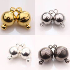 5/10 Sets Silver/Gold Plated Round Strong Magnetic Clasps Hooks Jewelry Findings