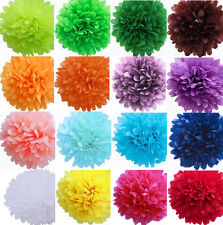 "4"" Colorful Tissue Paper Pom Poms Flower Ball Wedding Birthday Party Decoration"