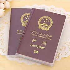 New Utility Clear Passport Holder Protective Cover Case ID Card Travel Organizer