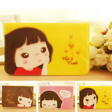 Fashion Lovely Smile Girl Card Package 12 Screens Credit Card Bus Card Holder CN