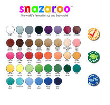 Professional SNAZAROO FACE PAINTS 18ml Fancy Dress Stage Make-Up 38 COLOURS