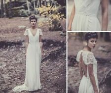 Vintage White/Ivory Bridal Gown Wedding Dress Custom Size 2 4 6 8 10 12++/Custom