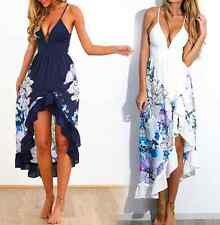 Women's Sexy Floral Long Maxi Dress Casual Evening Party Cocktail Sun Dress RM06