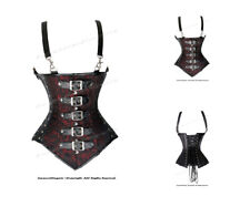 Full Steel Boned Heavy Lacing Brocade Underbust Shaper Corset #8580(BRO)