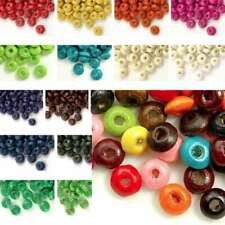 780 Loose Wooden Wood Spacer Charms Rondelle Beads Jewelry Findings 3x6mm