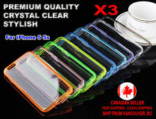 3x Case Crystal Clear Thin Transparent TPU + PC Back Cover for Apple iPhone 5 5