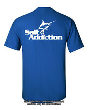 Salt Addiction Saltwater fishing t shirt,marlin logo life reel ocean sea fish
