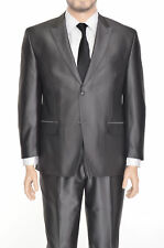 Sean John Classic Fit Gray Tonal Striped Two Button Suit With Peak Lapels