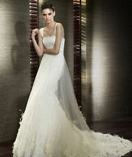 New Style Popular White/Ivory Wedding Dresses Bridal Gown Custom Size 4 6 8+++++