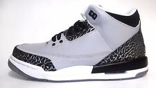"NEW Youth Air Jordan III ""Wolf Grey"" Silver Black 398614-004 BG GS Cement 3 NIB"