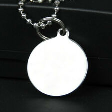 Army ID Dog Tag Pendant Necklace Military Ball Bead Chain Stainless Steel Silver