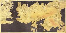 Game of Thrones - TV Show Season Drama Series Map Fabric Poster 48x24