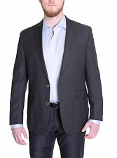 Kenneth Cole Reaction Slim Fit Black Neat Textured Two Button Blazer Sportcoat