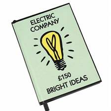 Retro Monopoly Notebook Journal - Electric Company - Great Gift - Free Post