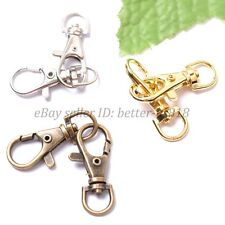 Silver, Gold, Bronze, Metal Swivel Lobster Clasps Clips 39X16MM Jewelry Findings