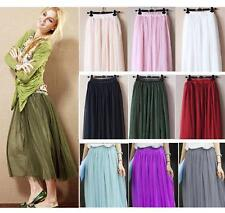FahsionTulle Drape Long Skirt Candy Dress Tulle Maxi Skirt AU 2 Size S/M or L/XL