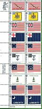 1345-1354  Historic Flags,strip of 10..  MNH 6 cent Plate Block of 20. 1968