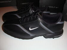 NIKE HERITAGE GOLF SHOES WATER RESISTANT  BLACK SILVER  Sz 9 NEW