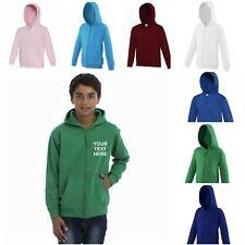 NEW KIDS AWDis ZOODIE FULL ZIP ZIPPED SWEATSHIRT HOODED JACKET PERSONALISED